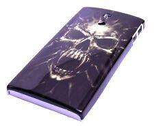 Custodia Protettiva F Sony Xperia P lt22i Custodia Case Cover Skull Teschio Morto Dead