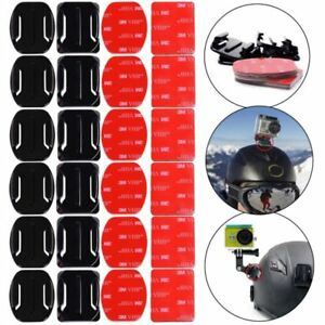 12x 3M Adhesive Sticky Pads Flat & Curved Mount For Gopro Hero 2 3 3+ 4 UK Selle