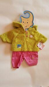 Baby-Born-Hose-und-Wollpullover-Buegel-Mode-Kleidung-fuer-43-cm-Puppe-Zapf