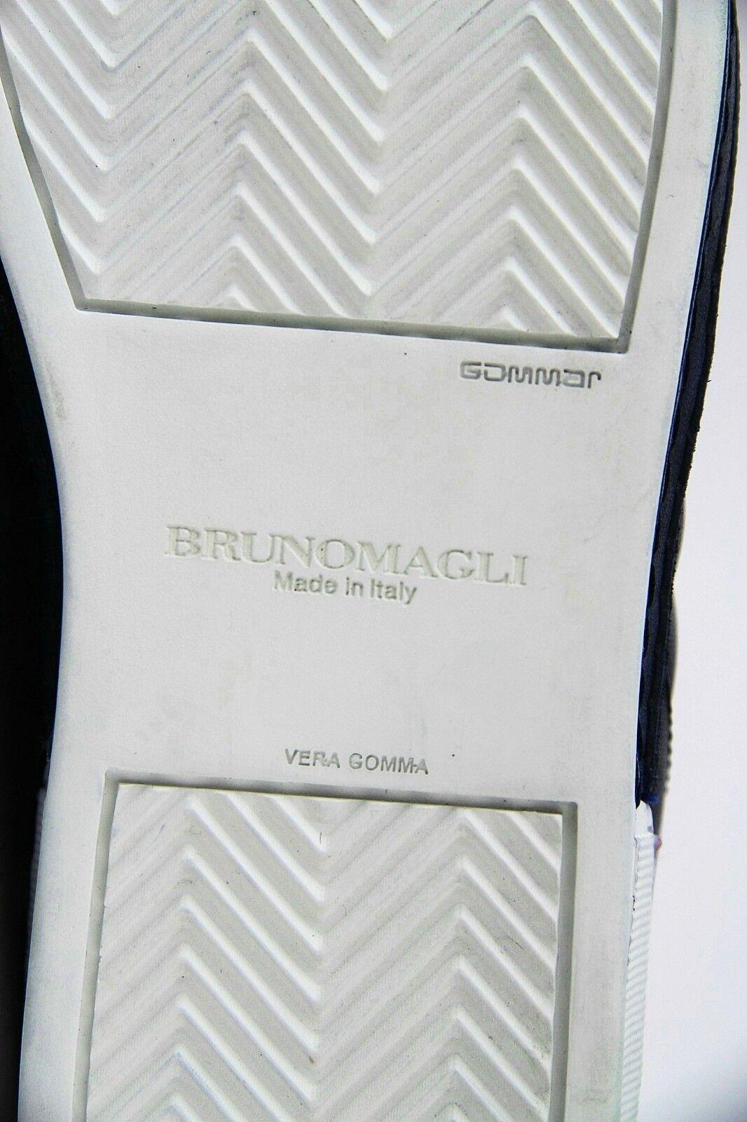 BRUNO MAGLI BLUE BLUE BLUE SANTO SHOES SNEAKER 100% CALF LEATHER ITALY NEW ORIGINAL BOX aae16c