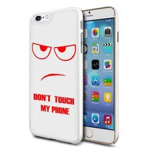 para-Varios-Telefonos-Diseno-Duro-Estuche-de-piel-de-la-cubierta-ROJO-No-toque