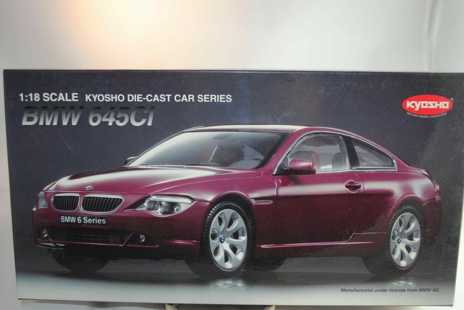 1 18 KYOSHO  08701CR  - BMW 645Ci Coupe Dark rot   -RARITÄT-