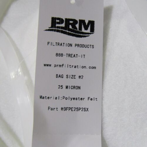 LOT OF 50 PCS PRM TRADE SIZE #2 FILTER BAGS 25 MICRON POLYESTER FILTER BAGS NIB