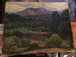 Evelio Palá, Pintura al óleo sobre lienzo, Paisaje, 65x50cms.