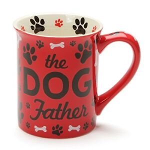 Enesco-6001229-Our-Name-Is-Mud-Dog-Father-Stoneware-Mug-16-oz-Red