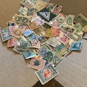 BOX-LOT-WW-STAMP-COLLECTION-1-000-s-OF-OFF-PAPER-STAMPS-MANY-COUNTRIES-NO-USA