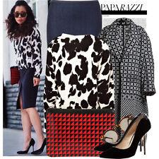 NEW ZARA Dark Denim Pensil Skirt with Front Slit Size EUR 38/UK 10/US 6
