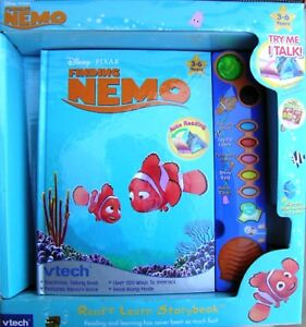 Disney-039-s-Finding-Nemo-Vtech-Electronic-Interactive-Read-n-Learn-Talking-Book-New