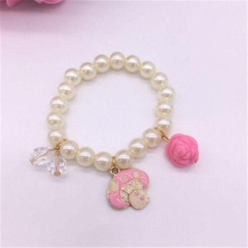 Pearl Bead Baby Girl Bracelet Pendant Bracelet Bangle Jewelry For Kids Gift BR