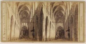 Belgium-Anversa-Cattedrale-Foto-Braun-Stereo-L53S1n53-Vintage-Albumina-c1865