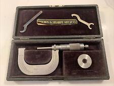 Vintage Brown Amp Sharpe 1 2 Inch Micrometer 48 In Original Case Withstandard