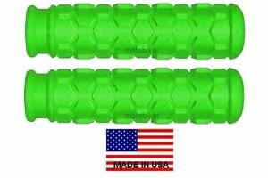 KAWASAKI JET SKI WATERCRAFT JS 300 440 550 650 PWC GREEN HEX HANDLEBAR GRIPS USA
