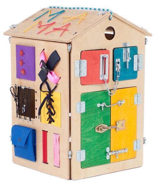 Busyhaus, Holzhaus – Motorikspielzeug, Holzspielzeug , Lernspielzeug für Kinder