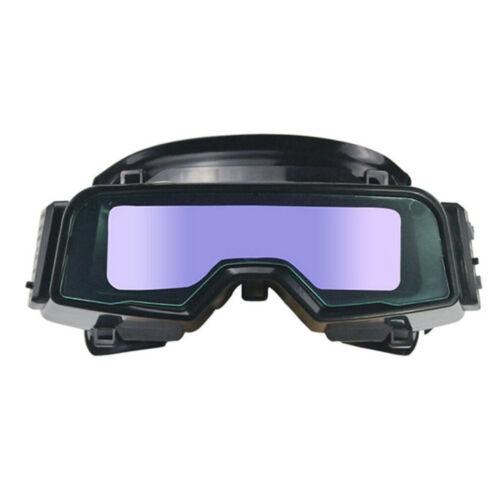 Solar Energy Auto Darkening Weld Goggles Helmet Tig Mig Grinding Shield Glasses