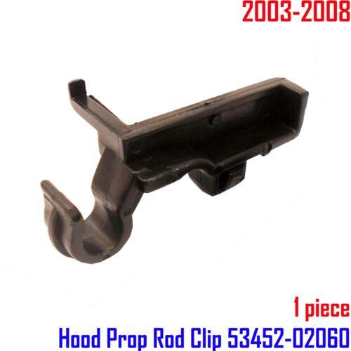 Toyota Corolla E120 9th Gen 03-08  1x White Hood Prop Rod Clip 53452-02060