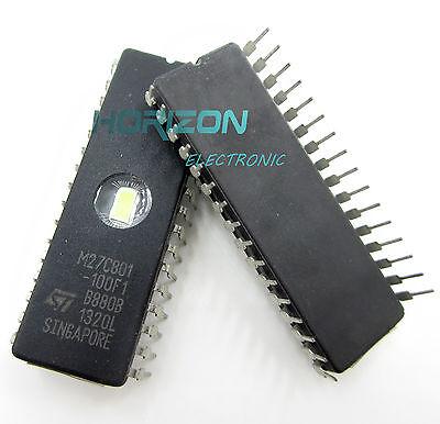 1//2//5//10//25 PCS M27C801-100F1 27C801 ST IC EPROM UV 8MBIT 100NS 32CDIP NEW