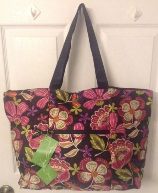 Vera Bradley Collapsible Nylon Tote Duffel in PIROUETTE PINK Limited  Edition NWT 1005a6758724c
