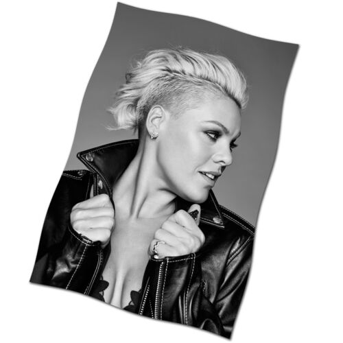 Pink Flag Banner NEW Just Give Me A Reason So What Fabric Textile Poster P!nk