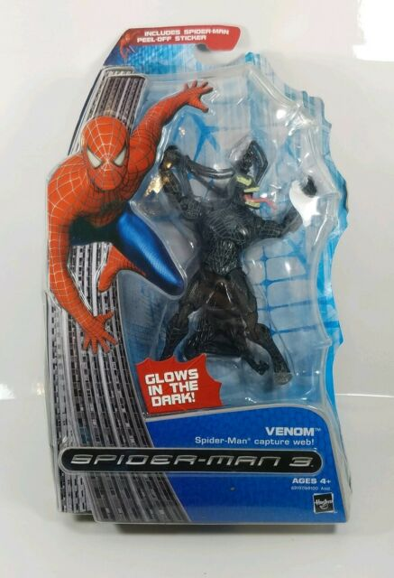 BOX DAMAGE Spider-man 3 Venom with Capture Web MISP 2007 Hasbo Action Figure