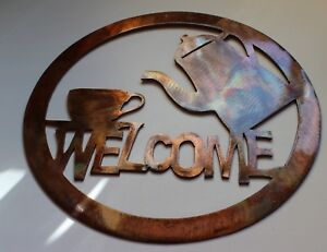 Coffee-Welcome-Sign-Metal-Wall-Art-Decor
