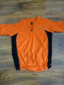 Mens-Small-Short-Sleeve-Muddy-Fox-Cycling-Neon-Orange-Top-Good-Condition