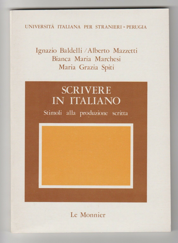 Scrivere in italiano stimoli alla produzione scritta