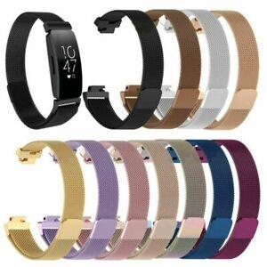 Fashion-Armband-Edelstahl-Metall-Uhrenarmband-fuer-Fitbit-Inspire-amp-Inspire-HR-FG