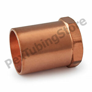 "(5) 1-1/4"" C x 1"" Female NPT Threaded Copper Adapters"