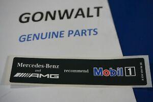 New OEM Genuine Original MERCEDES AMG LOGO MOBIL 1 huile Sticker Étiquette A0045849438