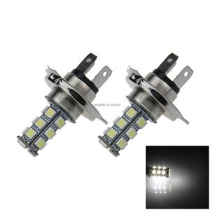 2x-White-Car-H4-Signal-Light-Fog-Blub-18-Emitters-5050-SMD-LED-P43t-H102