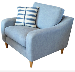 Image Is Loading Henley Halo Snuggler Sofa Armchair Denim Pale Blue