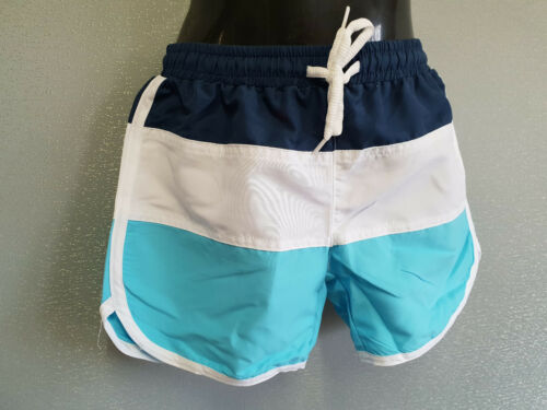 BNWT Boys Sz 4 White Soda Brand Seabreeze Blue Navy White Swim Shorts Trunks