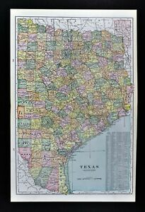 Details about 1891 George Cram Map East Texas Austin Dallas Houston  Louisiana Mississippi