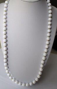 Collier De Perles Couleur Blanche Et Or Signé Napier Qualité Bijou Vintage 377 Distinctive Pour Ses PropriéTéS Traditionnelles
