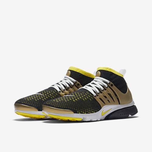 Mens Ultra Nike Air Presto Flyknit Ultra Mens 835570-007 Black/Yellow Streak New Size 9 a00280