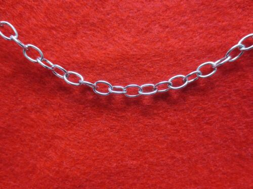 WHOLESALE LOTS OF 10 FEET TO 100 FEET STAINLESS STEEL SILVER 5MM LINK ROPE CHAIN