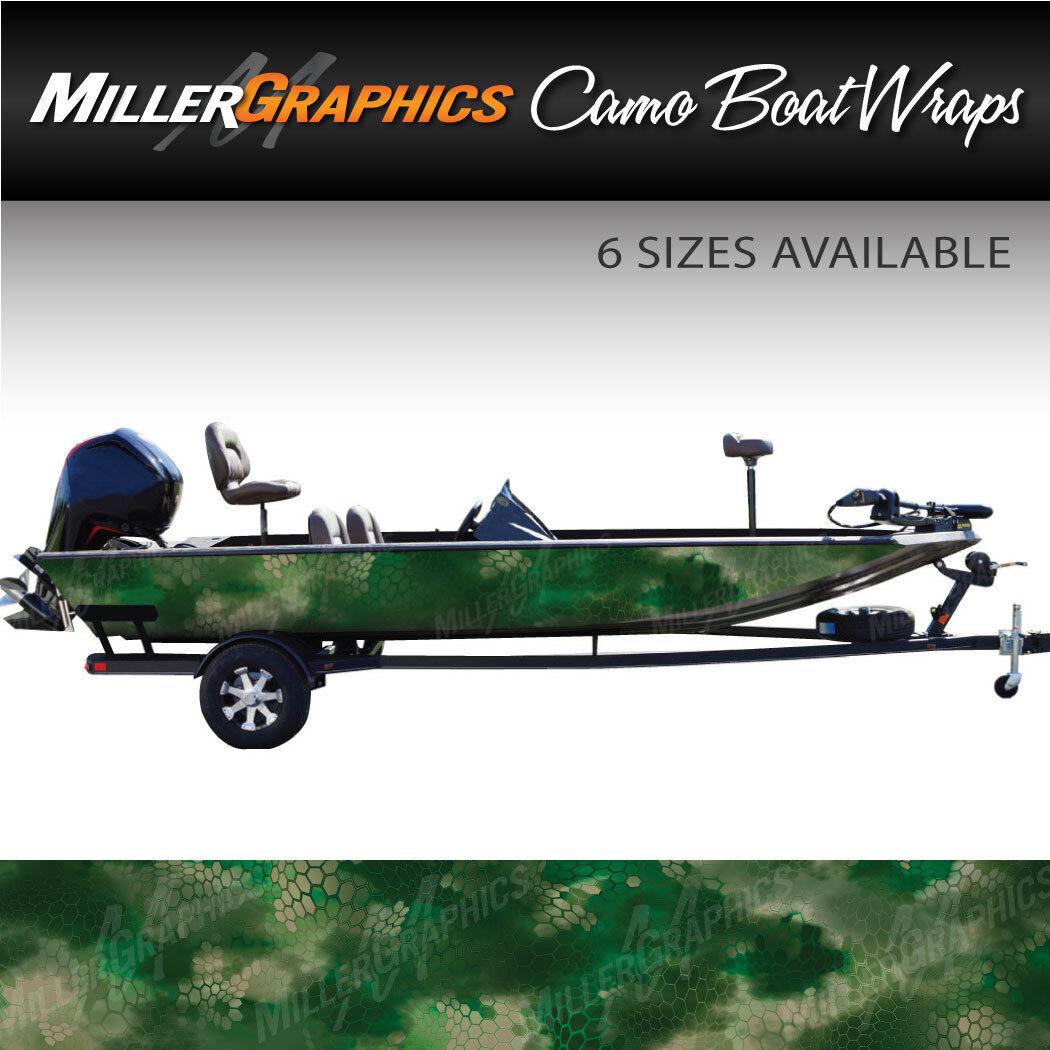 Camo Boat Wrap Kit Chameleon Forest 3M Cast Vinyl - 6 Sizes Available