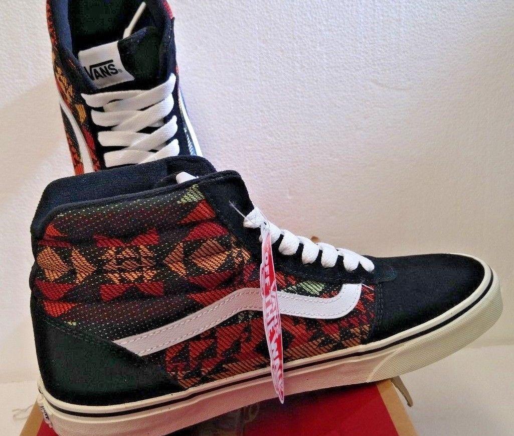 Vans Para hombres Zapatos, Ward Hi (nativo) Negro, M 9.0