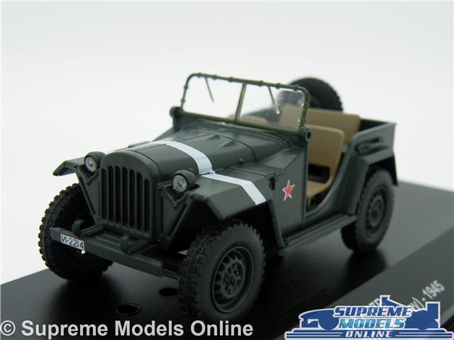 GAZ 67B JEEP CAR MODEL BERLIN GERMANY 1 43 SIZE 1945 MILITARY ARMY RKKA T3