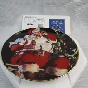 Santa-A-Refreshing-Pause-Franklin-Mint-Plate-HE5205-Santa-amp-a-Coke-1C16
