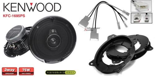 Kenwood KFC-1695PS 6.5 Speakers 1 Pair Front Adapters Harness For Toyota