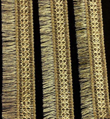 2 Yards Gilver Lurex Wide Border Zari Fringe Tassel 4cm Saree Trim Craft SewOn