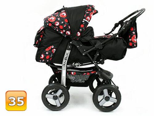 Kombi Kinderwagen Pram Poussette Sportsitz Autositz Babyschale Sportwagen Buggy