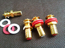 4x HIFI AMP CMC Gold plated RCA Socket connector Chassis female amp audio