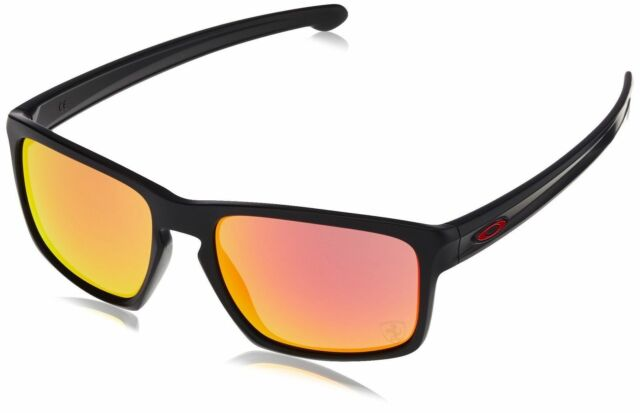 3332ac7a09 Oakley Sliver Scuderia Ferrari OO9262-12 Matte Blk  Ruby Iridium Sunglasses  57mm