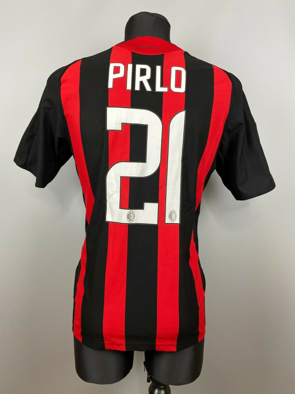 cheque Aprendizaje Botánica  AC MILAN 2008 2009 PIRLO HOME SHIRT ACM FOOTBALL SOCCER JERSEY ADIDAS SIZE  M for sale online