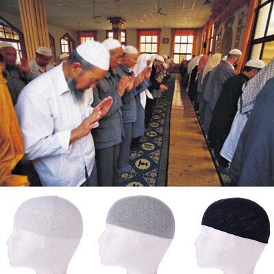 Men Kufi koofi Kofi Hat Skull Cap Islamic Muslim Prayer Topi Head Wear Clothing