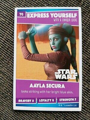 Sainsburys Card Number 70 Aayla Secura Sainsbury/'s Disney Heroes 2019 Star Wars