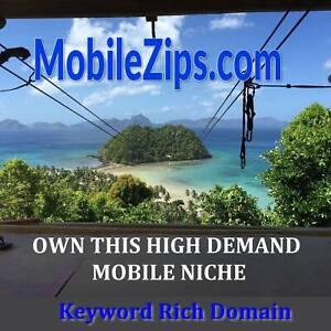 ✅ MobileZips .com - Premium Brand-able Domain - Mobile App Business  2-Word