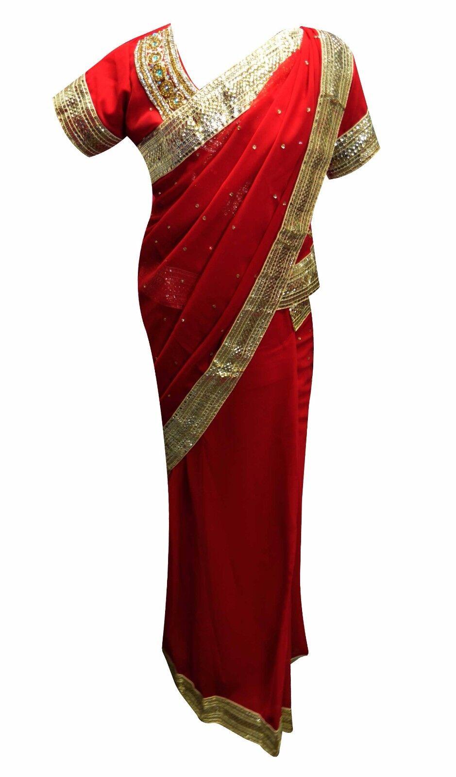 Indian Girls Bollywood Theme Costume Kids Lehenga SAREES Wedding